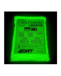 GEOFFS NATURAL PRECISION 0.30G 6MM BB'S GREEN TRACER - 3000 ROUNDS