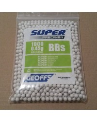 GEOFFS SUPER PRECISION 0.45G 6MM BB'S - 1000 ROUNDS