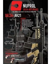 NUPROL DELTA AK21 AEG - BLACK