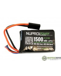 7.4V 1500MAH 20C PEQ MIRCO TYPE LIPO BATTERY