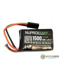 NUPROL 7.4V 1500MAH 20C PEQ MICRO TYPE LIPO BATTERY