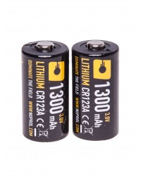 CR123A 3V LITHIUM BATTERY - TWIN PACK