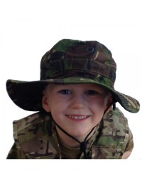ARMY WOODLAND CAMOUFLAGE BUSH HAT