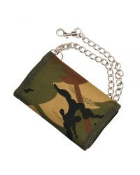 CAMOUFLAGE WALLET ON A CHAIN