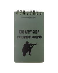 KIDS ARMY WATERPROOF NOTEPAD
