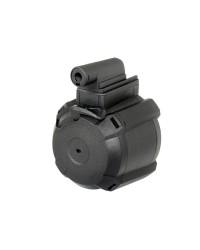 BATTLEAXE M870 SHOTGUN 1200 ROUND ELECTRIC DRUM MAGAZINE - BLACK