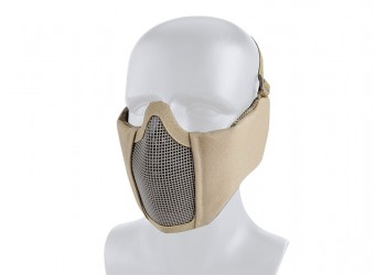 TACTICAL MESH MASK WITH EAR PROTECTION - TAN