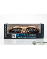 NUPROL SHADES MESH GOOGLES EYE PROTECTION - TAN