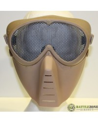 BIG FOOT FULL FACE MASK WITH MESH GOGGLE - TAN
