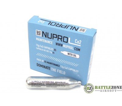 NUPROL CO2 MAINTENANCE CAPSULES 12G - 5 PACK