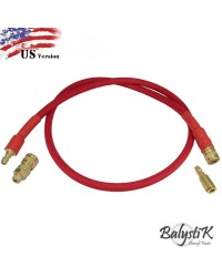 BALYSTIK DELUXE REMOTE LINE FOR HPA REGULATOR - RED - US