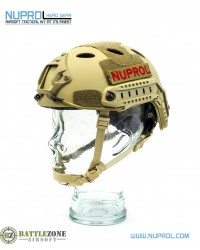 NUPROL FAST HELMET RAILED - TAN