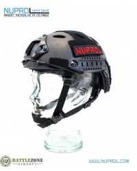 NUPROL FAST HELMET RAILED - BLACK