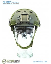 NUPROL FAST HELMET RAILED - GREEN