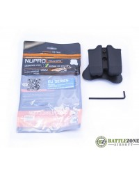 NUPROL EU/GLOCK SERIES DOUBLE MAGAZINE POUCH - BLACK