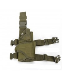 BIG FOOT UNIVERSAL TORNADO DROP LEG PISTOL HOLSTER - RIGHT HANDED - GREEN