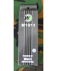 WE 1911 SERIES SPARE MAGAZINE - SILVER FOR 'MEHICO DRUGLORD & NIGHTHAWK GBB PISTOL