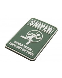 SNIPER, DON'T RUN YOU'LL ONLY DIE TIRED PATCH - GREEN