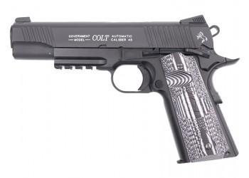 CYBERGUN KWC 1911 RAIL GUN COMBAT UNIT CO2 PISTOL - BLACK