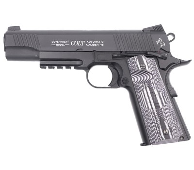 CYBERGUN KWC 1911 RAIL GUN COMBAT UNIT CO2 PISTOL - BLACK