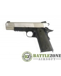 CYBERGUN KWC 1911 RAIL GUN CO2 PISTOL - DUAL TONE STAINLESS