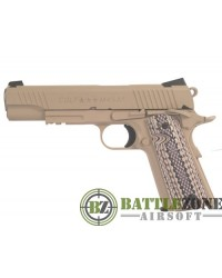 CYBERGUN KWC 1911 RAIL GUN CO2 PISTOL - TAN