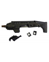 APS CARBINE CONVERSION KIT FOR G17 / G18 SERIES GBB PISTOL - BLACK