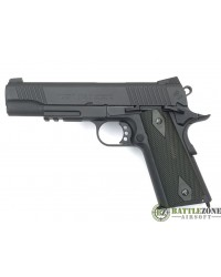 CYBERGUN KWC 1911 RAIL GUN CO2 PISTOL WITH FIXED SLIDE - BLACK