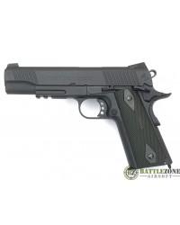 CYBERGUN KWC 1911 RAIL GUN CO2 PISTOL - BLACK