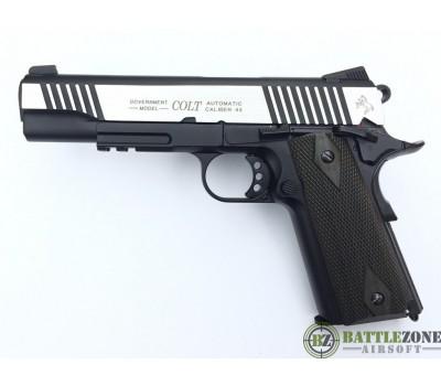 CYBERGUN KWC 1911 RAIL GUN CO2 PISTOL - DUAL TONE