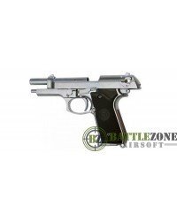 WE M92 GEN2 GBB PISTOL WITH LED CASE - SILVER
