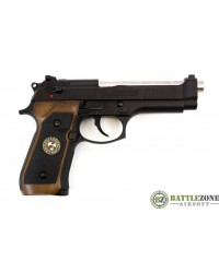 WE M92 GEN2 BIOHAZARD GBB PISTOL - BLACK