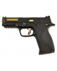 WE E FORCE BIG BIRD M&P VENTED BLACK SLIDE AND GOLD BARREL