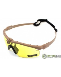 NUPROL BATTLE PRO'S - TAN FRAME / YELLOW LENSE
