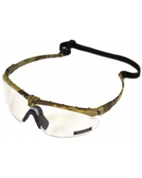 NUPROL BATTLE PRO'S - CAMO FRAME / CLEAR LENSE WITH INSERT FOR OPTICAL LENSES
