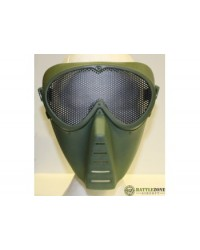 BIG FOOT FULL FACE MASK WITH MESH GOGGLE - GREEN