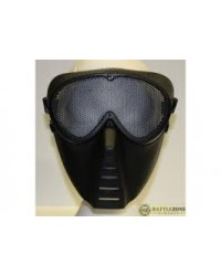 BIG FOOT FULL FACE MASK WITH MESH GOGGLE - BLACK