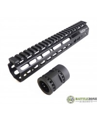 "ARES OCTARMS TACTICAL KEYMOD HANGUARD SYSTEM - 10"" BLACK"