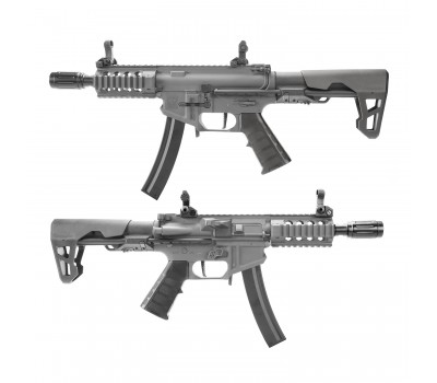 KING ARMS PDW 9MM SBR SHORTY AEG - GUN METAL GREY