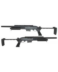 A&K 870 FULL METAL SPRING TACTICAL SHOTGUN - BLACK