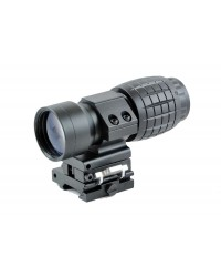 3X MAGNIFIER FOR DOT SIGHTS WITH FLIP TO SIDE MOUNT