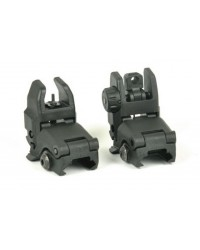 BACK UP FRONT AND REAR SIGHT SET - BLACK