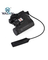 WADSN DBAL-D2 FLASHLIGHT WITH RED AND GREEN LASER - BLACK