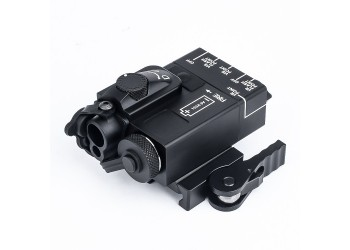 WADSN MINI DBAL AIMING DEVICE WITH RED & IR LASER - BLACK (METAL)