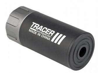 "WOSPORT FLASH TRACER SILENCER 14MM CCW 3.5"" - BLACK"