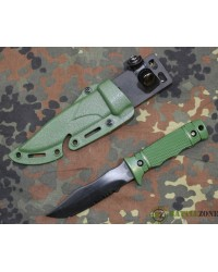 RUBBER TRAINING KNIFE WITH HARD HOLSTER - GREEN
