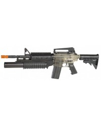 CYBERGUN WAR INC M4A1 RIS RIFLE WITH MOCK GRENADE LAUNCHER