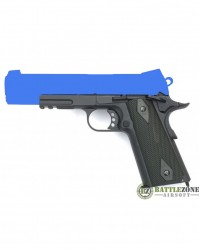 CYBERGUN KWC 1911 RAIL GUN CO2 PISTOL WITH FIXED SLIDE - TWO TONE