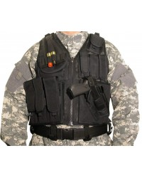 SWISS ARMS LIGHT WEIGHT QUICK DRAW TACTICAL VEST - BLACK